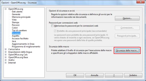 OpenOffice Calc, Sicurezza